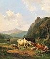 Hendrikus van de Sande Bakhuyzen - Cattle and sheep in a meadow.jpg