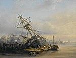 Henri Adolphe Schaep - Het maken van reparaties in de scheepswerf.jpg