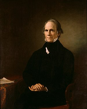 American School (economics) - Senator Henry Clay leader of the Whig Party and advocate for the American System.