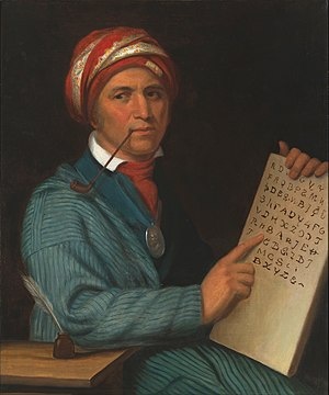 Henry Inman (painter) - Image: Henry Inman Sequoyah Google Art Project