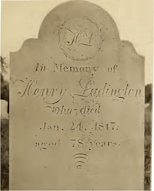 Henry Ludington - Ludington tombstone