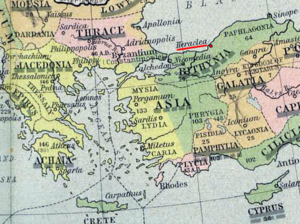 Heraclea Pontica - Map indicating Heraclea Pontica (underlined in red) during the Roman expansion in 264 BC