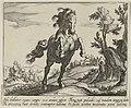 Heuvelachtig landschap met steigerend paard, van voren. NL-HlmNHA 1477 53011507.JPG