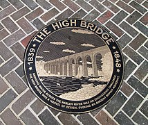 High Bridge re-opening first weekend - plaque The High Bridge