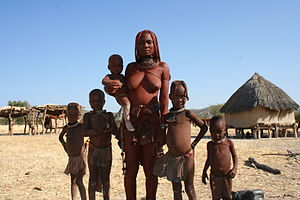 Himba Woman and Family