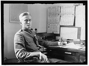 Hiram Bingham III - Hiram Bingham III at his desk in 1917