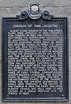 Historical marker San Agustin Church.jpg