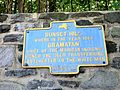 Historical plaque in Sunset Hill, Bronxville, NY, regarding Gramatan and the sale of Eastchester.JPG