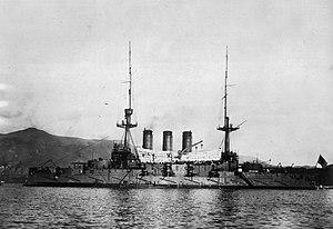 Russian battleship Retvizan - Japanese battleship Hizen
