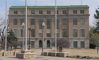 Hodgeman County, Kansas - Image: Hodgeman County courthouse (Kansas) from W 2