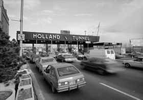 Péage à l'entrée du Holland Tunnel