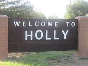 Holly, Colorado - Holly welcome sign