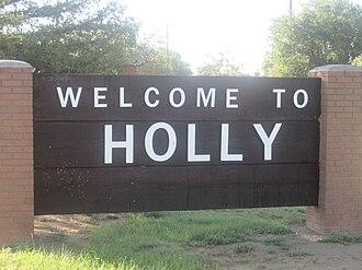 Holly, Colorado - Holly welcome sign