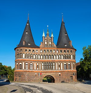 "Holstentor - The ""city side"" of the Holsten Gate in 2015"