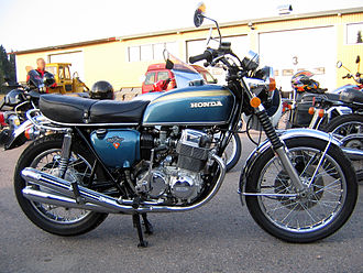 Outline of motorcycles and motorcycling - Honda CB750 inline four, the first to be called a 'superbike', and the archetypal Universal Japanese Motorcycle