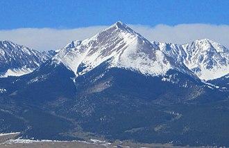 Westcliffe, Colorado - Sangre de Cristo Range viewed from Westcliffe