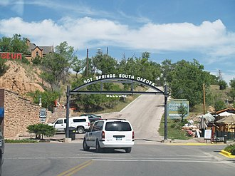 Hot Springs, South Dakota - Welcome Sign in Hot Springs