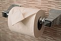 Hotel Room Toilet Paper Roll Folded (42016671980).jpg