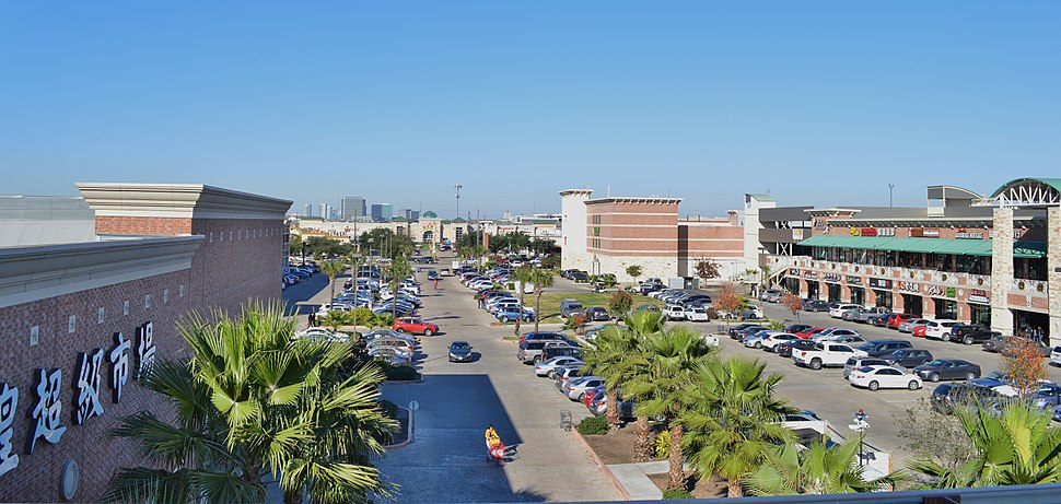 Houston Chinatown shopping centers east of Beltway 8 (Dec 2013)