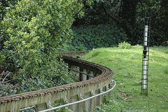 Hove Park - Miniature Steam Railway track