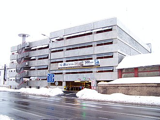 Multi-storey car park - A parking garage in Hradec Králové