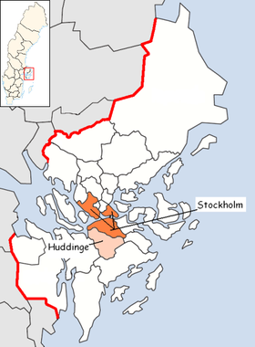 Localisation de Huddinge