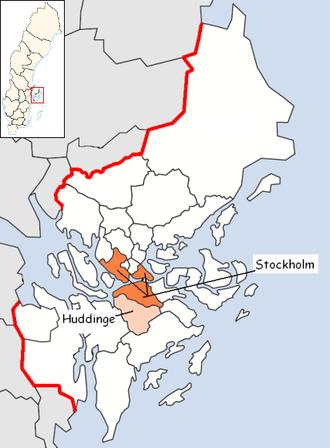 Huddinge Municipality - Image: Huddinge Municipality in Stockholm County