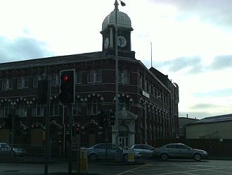 Hunslet -  Former Alf Cooke's Crown Point Printing Works, now part of Leeds City College on Hunslet Road from Black Bull Street