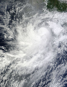 Hurricane Frank off the coast of Mexico on August 25