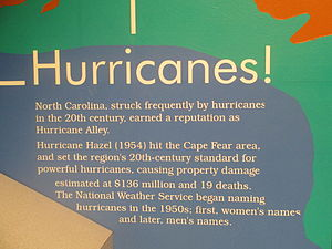 Cape Fear Museum - Hurricanes! exhibit.