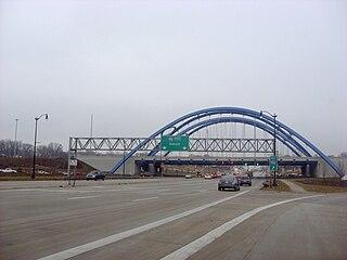 Gateway Bridge (Michigan) tied-arch bridge in Taylor, Michigan