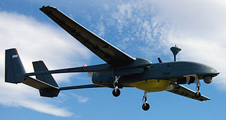 Twin-boom aircraft - The IAI Heron is an unmanned aerial vehicle (UAV) that features a twin-boom configuration.