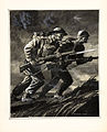 INF3-338B Unity of Strength A British soldier and a Russian soldier charging with rifles Artist Rowland Hilder.jpg