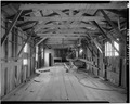 INTERIOR, LENGTH OF PIER, LOOKING NORTHEAST - F. E. Booth Company Pier, Bolinas, Marin County, CA HABS CAL,21-BOLI,1-11.tif