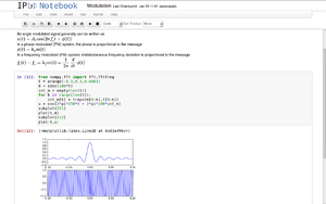 Notebook interface - An example of an IPython notebook