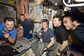ISS-20 crew members view a monitor in the Unity node.jpg
