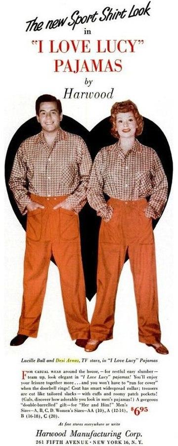 I love lucy pajamas 1953