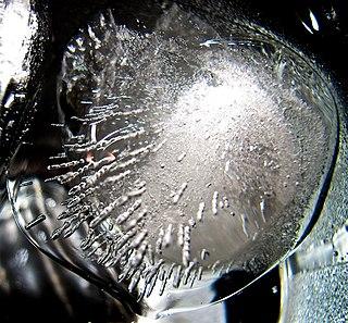 Ice I<sub>h</sub> hexagonal crystal form of ordinary ice