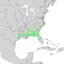 Ilex ambigua range map 2.png