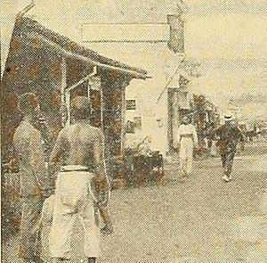 Malacca City - Street scene of Malacca City in 1912, during the British administration