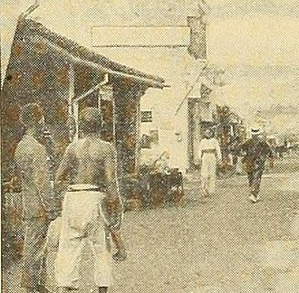 Straits Settlements - Malacca business street, 1912.