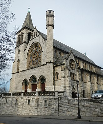 Immaculate Conception Church (Tuckahoe, New York) - Facade of the church from street level