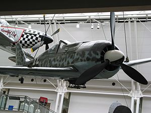 Mistel - The Imperial War Museum's Focke-Wulf Fw 190, equipped to be attached to a Mistel drone aircraft (2004)