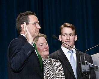 Dannel Malloy - Dan Malloy taking the oath of office, January 2011