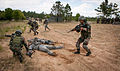 Indian Army soldiers disarm role-playing opponents during an ambush demonstration in 2013.jpg