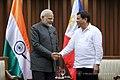 Indian Prime Minister Narendra Modi and Philippines President Rodrigo Roa Duterte meeting in Manila, 2017 (1).jpg
