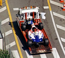 Photo de l'Arrows FA16 de Taki Inoue au Grand Prix de Monaco 1995