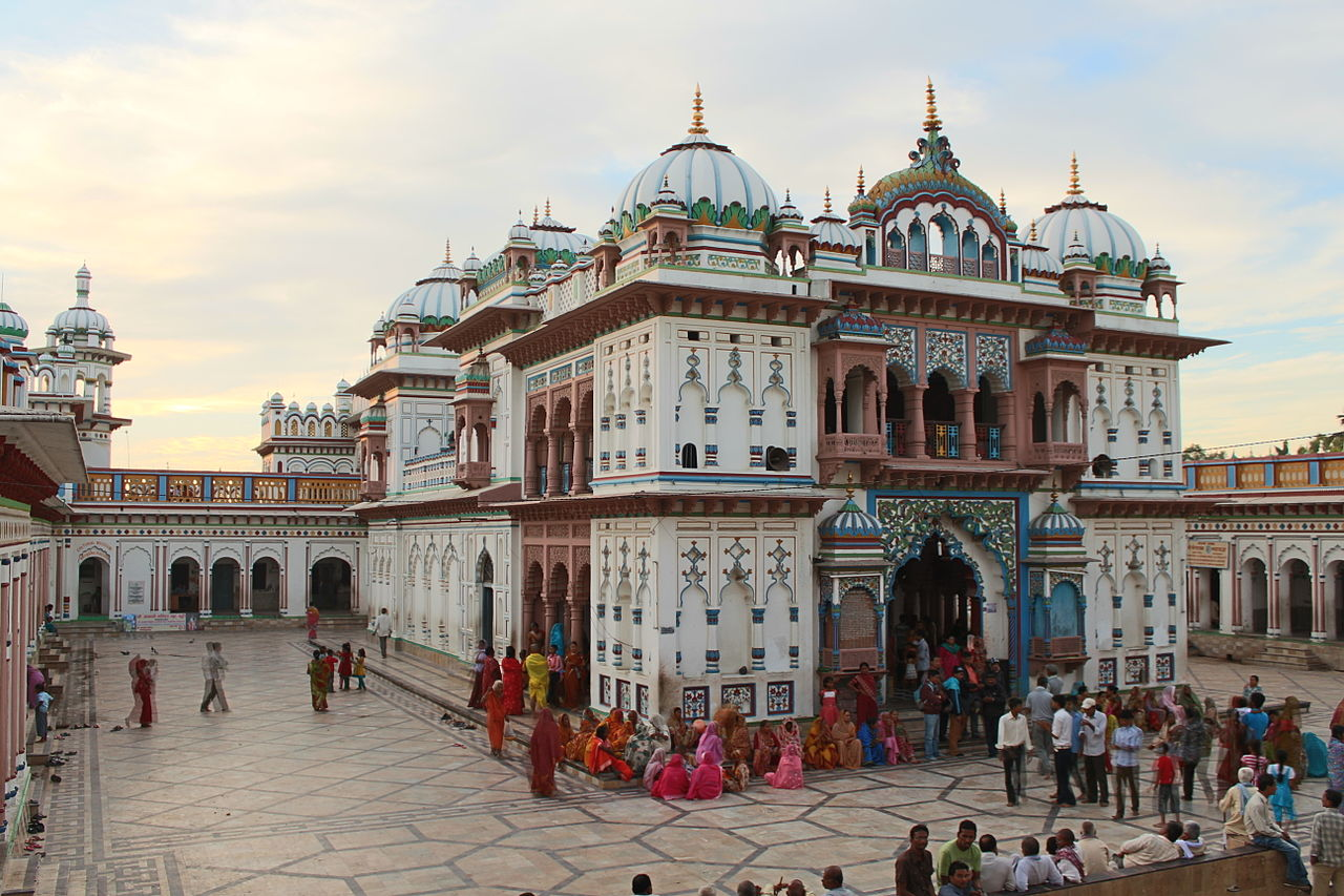 Janakpur Nepal  city pictures gallery : Inside view of the Janki Mandir of Janakpur, Nepal.