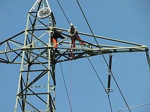 Installation de lignes electriques aériennes