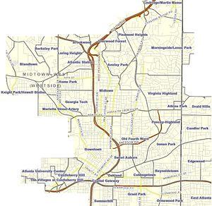 Intown Atlanta - Image: Intown atlanta neighborhoods